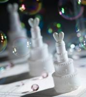 """Seifenblasen """"Hochzeitstorte"""" - weiß - 24 Stück"""