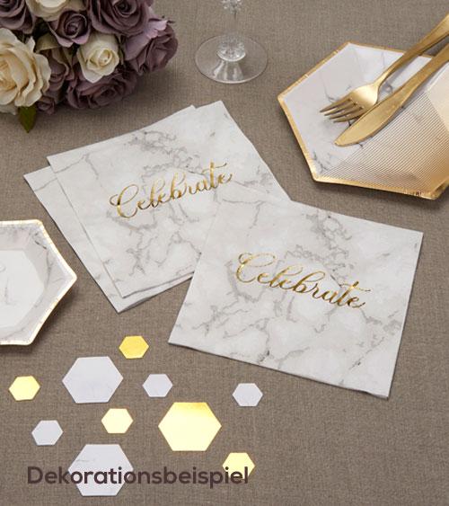 marmor deko serien dekoration hochzeit my bridal. Black Bedroom Furniture Sets. Home Design Ideas