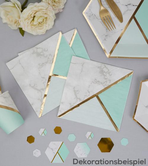 marmor mint gold deko serien dekoration bridal. Black Bedroom Furniture Sets. Home Design Ideas