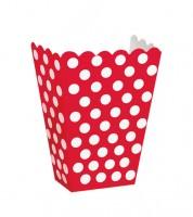 "Süßigkeitenboxen ""Big Dots"" - rot - 8 Stück"