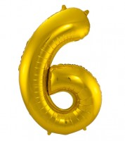 "SuperShape Folienballon ""6"" - gold"