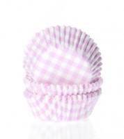 "60 Mini-Muffinförmchen ""Vichy Karo"" - rosa"
