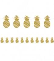 """Motivgirlande """"Goldene Ananas"""" - 2,74 m"""