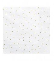 Servietten mit goldenen Pünktchen - weiß - 20 Stück