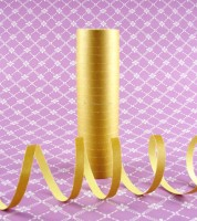 Papierluftschlange - gold