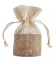 Jute-Gastgeschenkverpackung - natur - 4 Stück