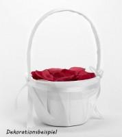 Blumenkörbchen für die Hochzeit - weiß