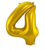 "SuperShape Folienballon ""4"" - gold"