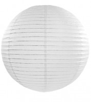 Papierlampion - weiß - 45 cm