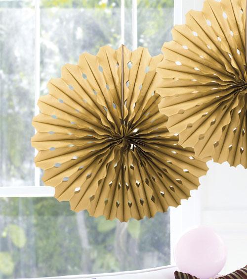 papier deko f cher 45 cm gold. Black Bedroom Furniture Sets. Home Design Ideas