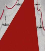 Roter Teppich - 50 cm x 4,5 m