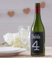 Kreidetafel-Tischnummern - selbstklebend - 1 bis 12