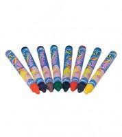 Bunte Textilstifte - 8 Stück