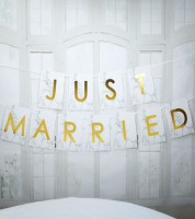 "Schriftzuggirlande  ""Marmor"" - Just Married - 2,5 m"