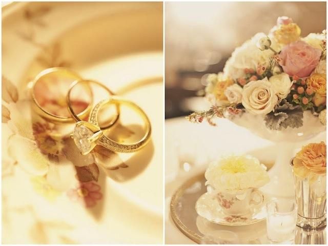 Eheringe für das Brautpaar - Vintage Hochzeit