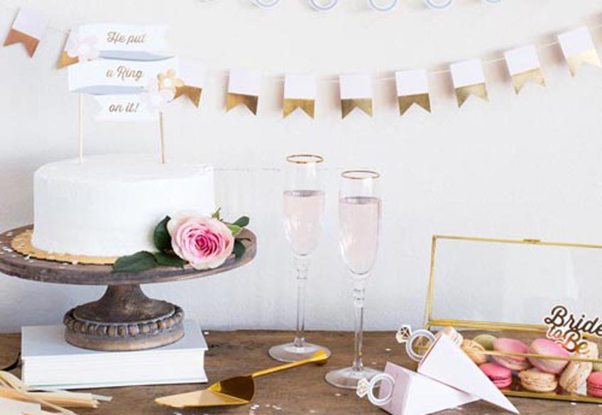 Femininer Sweet Table für die elegante Bridal Shower