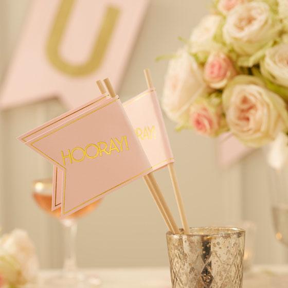 Hochzeitsdeko In Gold Und Rosa My Bridal Shower Blog