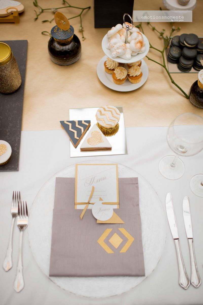 Hochzeitsshoot mit Vintage Deko-Ideen und besonderem Farbkonzept ...