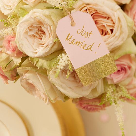 hochzeitsdeko in gold und rosa my bridal shower blog. Black Bedroom Furniture Sets. Home Design Ideas