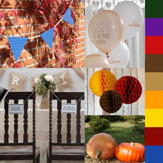Romantische Hochzeitsdekoration für eure Herbst-Hochzeit