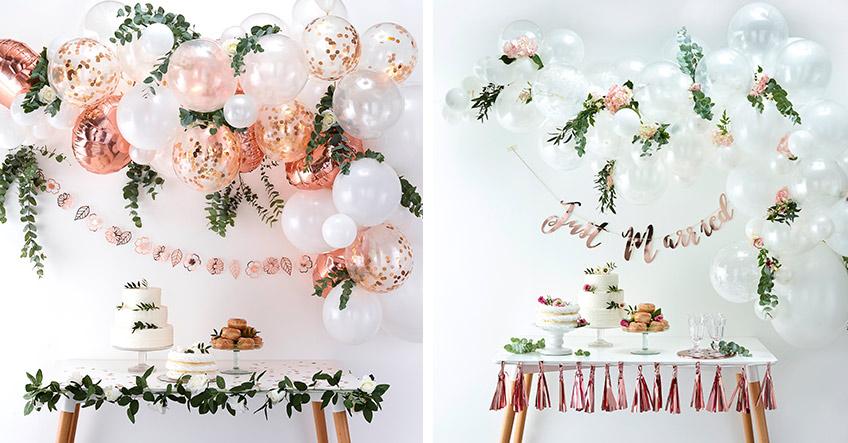 Ballongirlanden als Hochzeitsdeko lassen sich wunderschön individualisieren