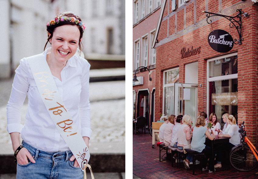 So bringt man eine Bald-Braut zum Strahlen! Ein wunderschöner Tag mit den besten Freundinnen und liebevoll ausgewählten Brautparty-Acessoires © Julia Löhning Fotografie