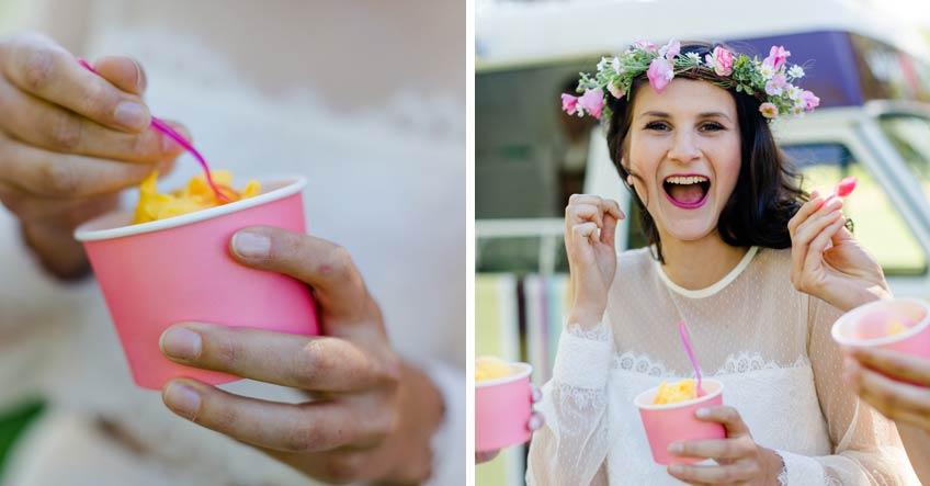 Schöne Eisbecher und Bombenstimmung - genieß den Sommer und deine Brautparty mit Eiscreme-Thema (c) Jana Köhler