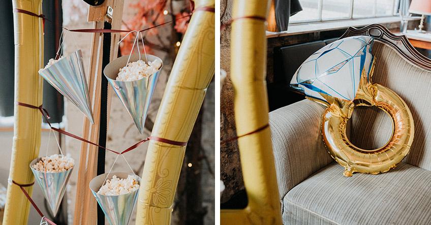Originell umfunktioniert - Folienballons und Partyhüte als Snack-Halter (c) Christine Ladehoff Fotografie