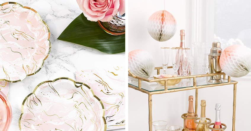 Dekorier deine märchenhafte Schwanensee-Brautparty in zarten Pastellfarben