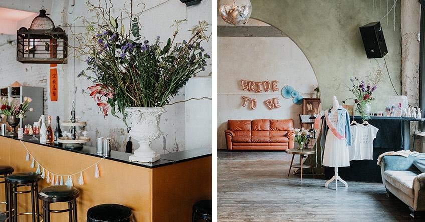 Weniger ist mehr - setze auf der urbanen Brautparty dekorative Highlights (c) Christine Ladehoff Fotografie