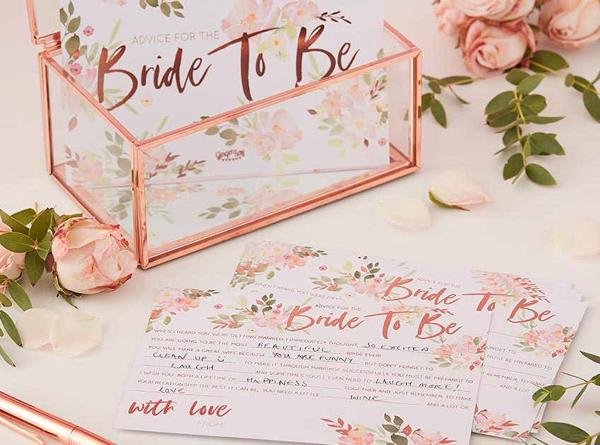 Advice Cards - eine liebevolle und schöne Spielidee für die Brautparty