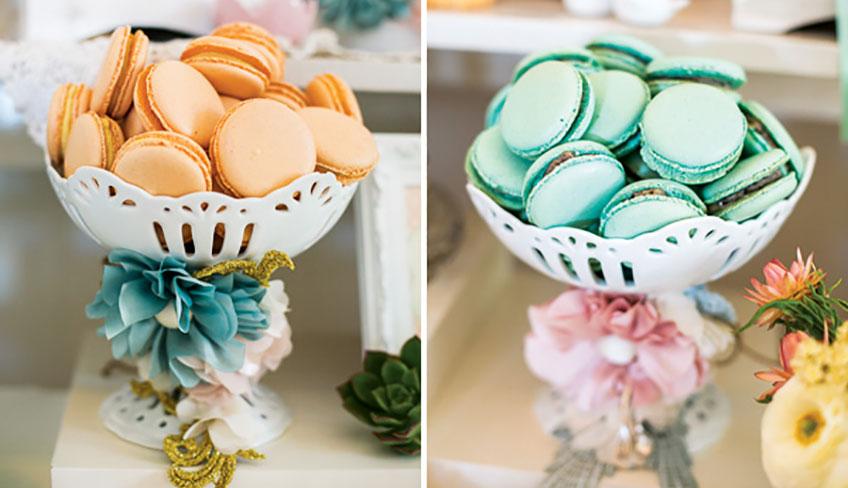 Macarons sind ein Klassiker auf der Bridal Shower (c) Silk Truffle Photography