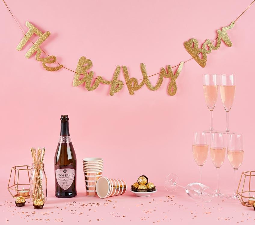 Eine Bubbly Bar mit Sekt darf beim Bridal Brunch nicht fehlen