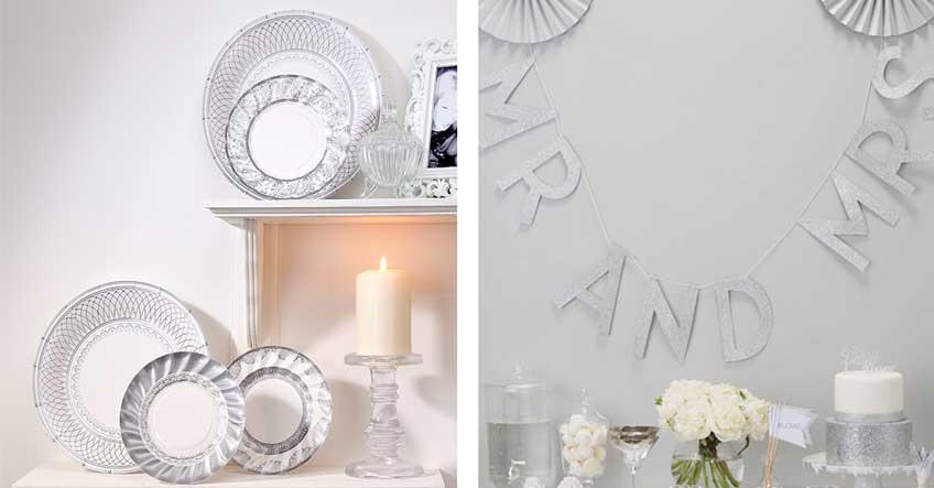 Deko In Silber Weiss Zum 25 Jubilaum My Bridal Shower Blog