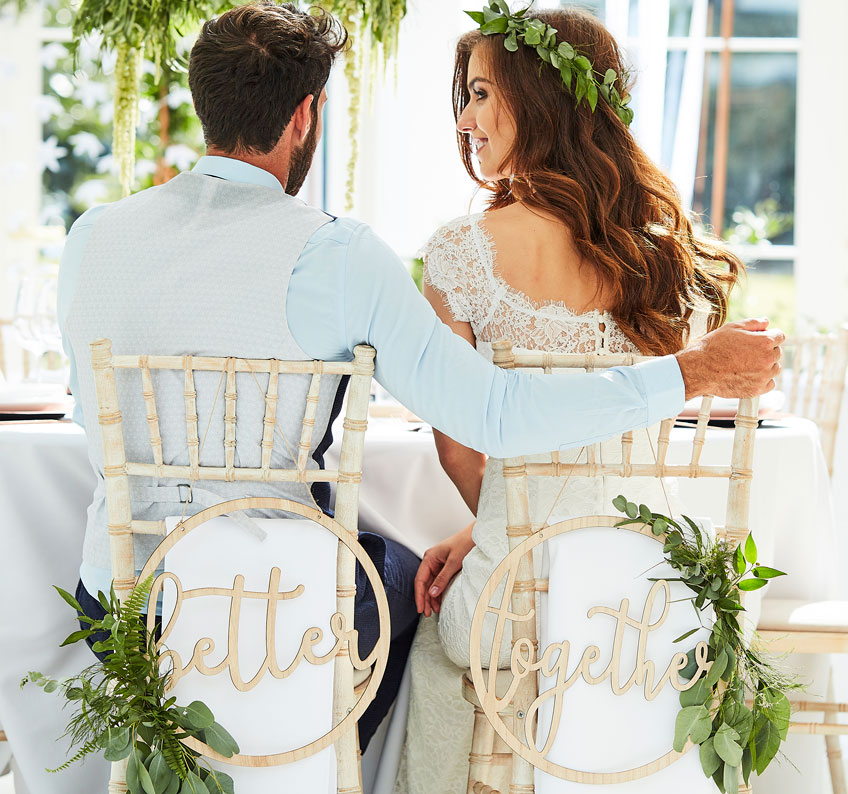 Die Festival-Hochzeit wird draußen gefeiert