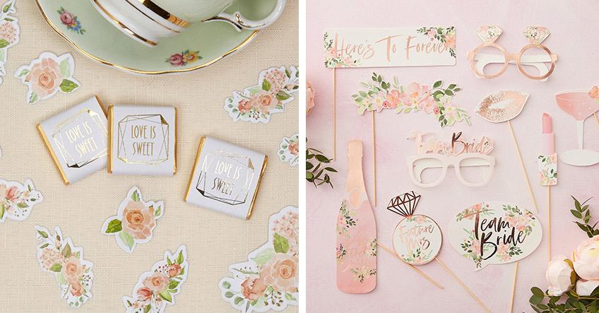 Runde deine florale Bridal Shower mit Deko-Accessoires ab