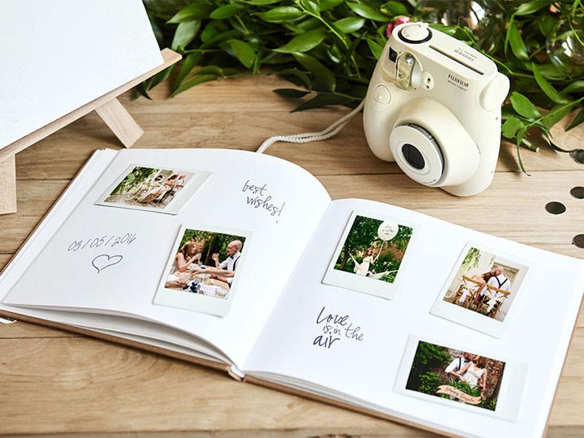 Hochzeits-Gästebuch mit bildlicher Erinnerung - klassisch und doch besonders