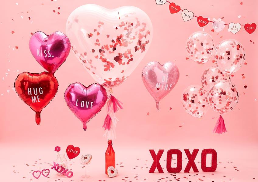 Dekorier den Galentine's Day in den Farben der Liebe und mit Herzen!