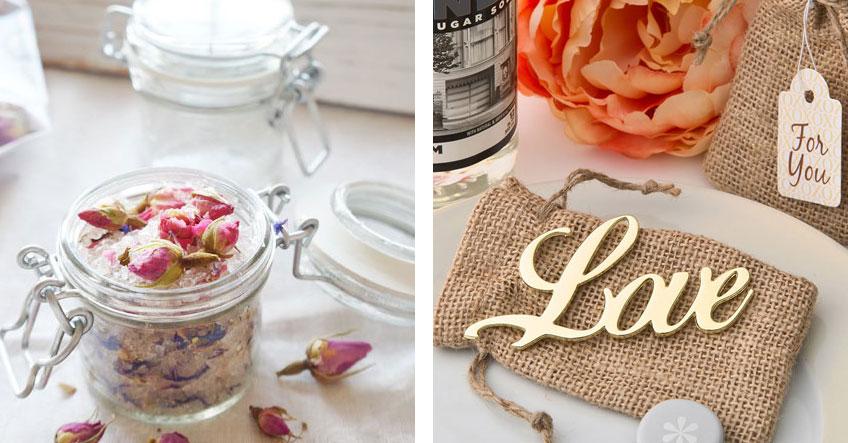 Ein kleines Einmachglas mit Selbstgemachtem oder ein romantischer Flaschenöffner als liebe Gastgeschenke