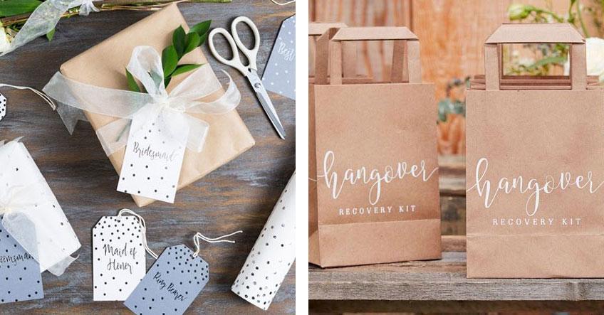 Überbringe deinen Gästen mittels Gastgeschenk eine Botschaft - zum Beispiel mit Hangover-Kits