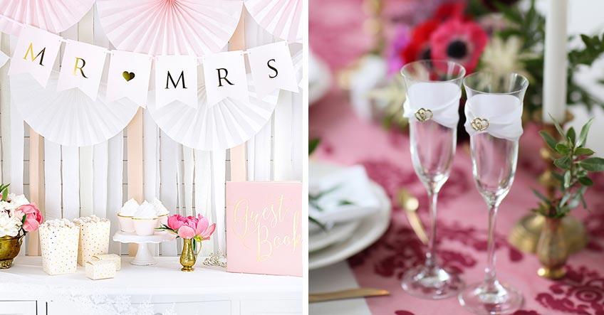 Hochzeit - oder Hochzeitstag - zu zweit feiern - ein bisschen Deko erschafft das richtige Ambiente