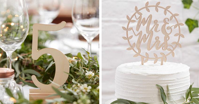 Zur Hölzernen Hochzeit eignet sich Holzdekor besonders gut