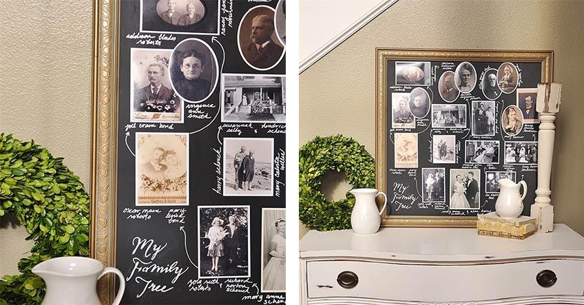 Auf yourhomebasedmom.com findet ihr ein tolles DIY zum Chalk Board für die Goldene Hochzeit (c) Leigh Anne Wilkes