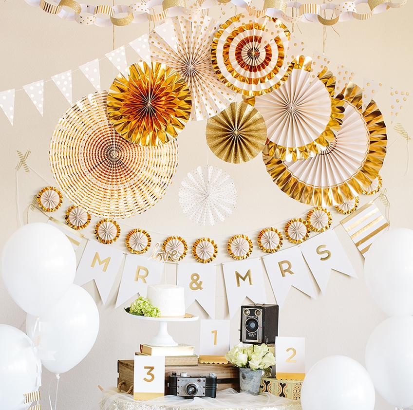 Goldene Deko Zur Goldenen Hochzeit My Bridal Shower Blog