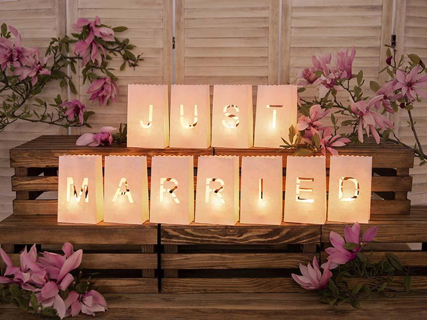 Umweltfreundliche Lichter-Deko für die Hochzeit