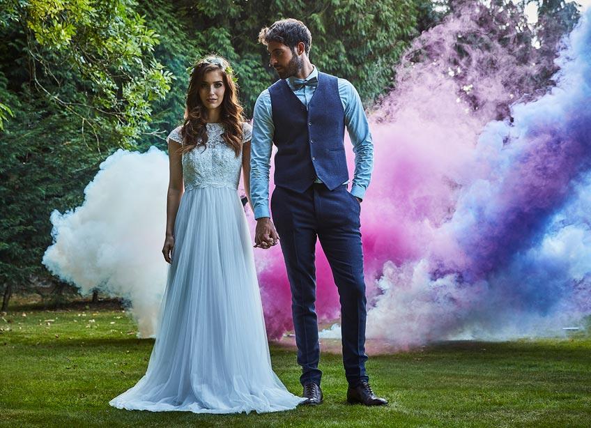 Bei der Festival-Hochzeit kann es schick UND bequem zugehen