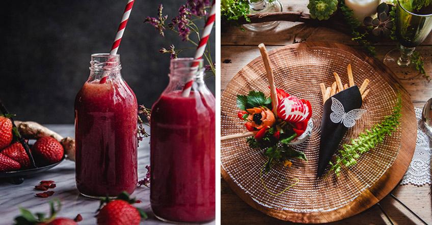 Getränke und Speisen in kräftigem Rot wirken sinnlich und ziehen magisch an