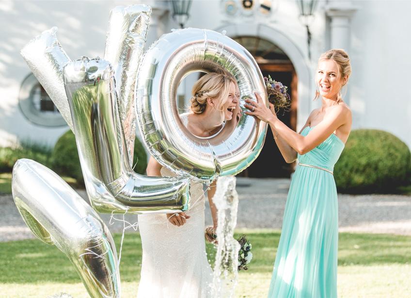 Für schöne Bildmomente mit den Brautjungfern - XXL Letter Ballons