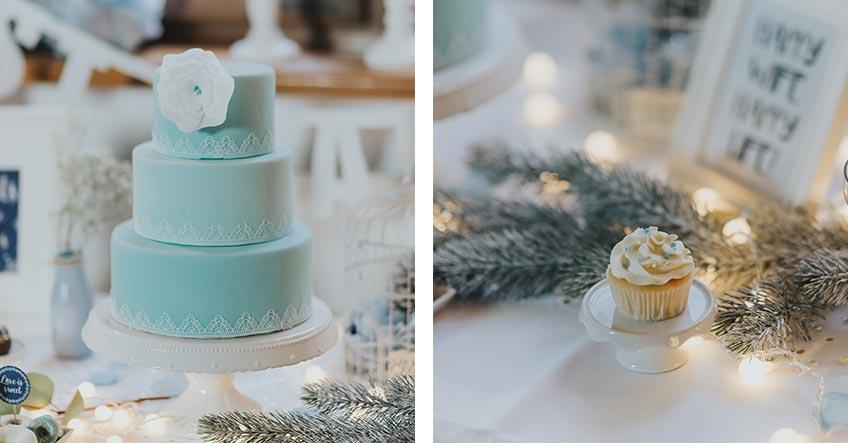 Der Sweet Table muss bezüglich Farbe und Deko natürlich zur Winterhochzeit passen (c) Svetlana Kohlmeier Fotografie