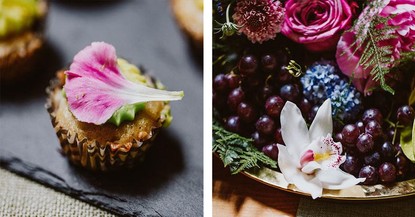 Blumig fruchtige Dekoration auf deinem tropischen Sweet Table